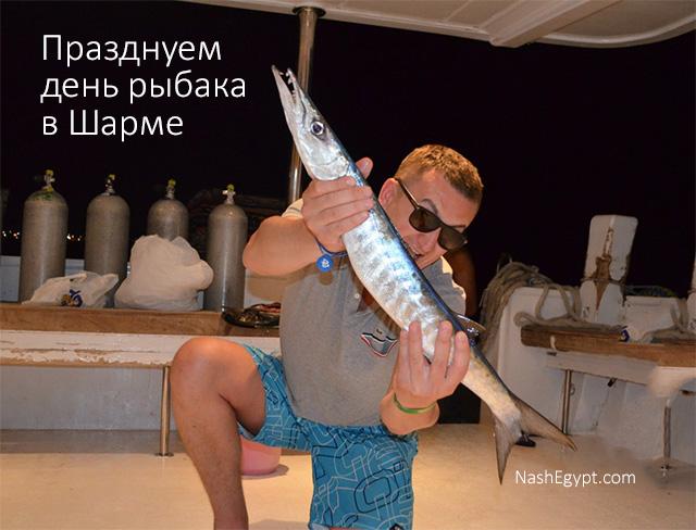 Празднуем день рыбака в Шарме