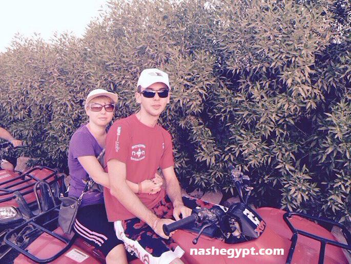Вдвоём на квадроцикле по пустыне в Шарм эль Шейхе